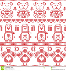 scandinavian vintage christmas nordic seamless pattern with