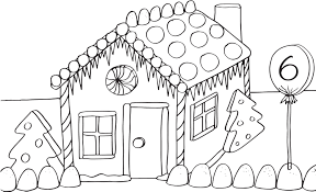 gingerbread house coloring page online for kid 6732