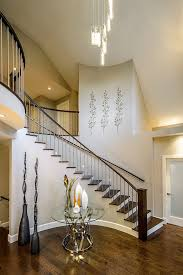 Pendant Lights For Sloped Ceilings Wall Decor For Stairs Staircase Contemporary With Metal Banister