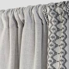 Grey And White Curtain Panels Stitched Edge Sheer Window Curtain Panel Gray 60