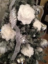 Plant Used As A Christmas Decoration Coffee Filter Flowers Used In My Christmas Tree Decorations Hometalk