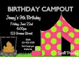 birthday party invitation tent
