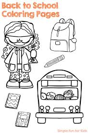 coloring pages simple fun kids