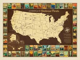 map of american design american national parks map of american