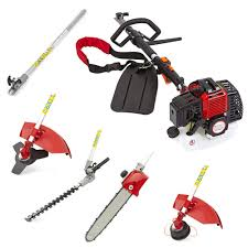 52cc 5 in 1 petrol hedge trimmer chainsaw strimmer brushcutter