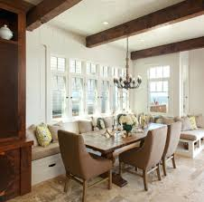 cozy dining room anniebjewelled com superb cozy dining room with long banquette seating for set near window under iron chandelier