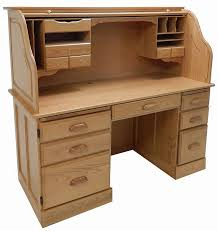 Roll Top Computer Desks 60 W Solid Oak Rolltop Computer Desk In Sand Finish In Stock