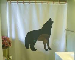 Wolf Curtains Wolf Shower Curtain Etsy