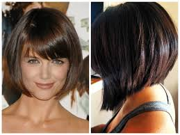stacked bob with side bangs hairstyle picture magz