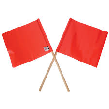 Orange Desk Accessories by Multi Message Orange Pvc Flag With Wooden Handle 300 X 300mm