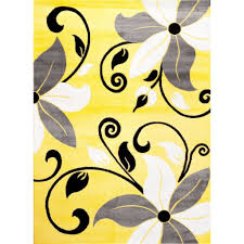 Yellow And Gray Outdoor Rug Rugs Curtains Modern Gray White Yellow Floral Indoor Outdoor