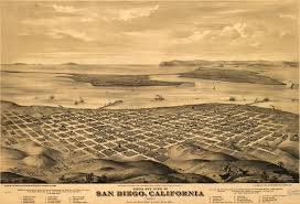 Map Of San Diego by Glover U0027s Birdseye View Of San Diego 1876
