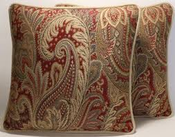 Beautiful Sofa Pillows by Burgundy Golden Tan Cream Chenille Texture Throw Pillows Square