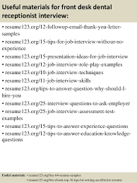 Medical Receptionist Resume Examples by Dental Receptionist Resume Example Dentist Health