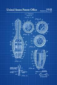 Wall Blueprints by Bowling Pin Patent Patent Print Wall Decor Bowling Art Bowler