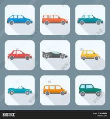 types of cars colored flat style various body vector u0026 photo bigstock