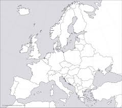 Map Of Europe Blank Outline by Blank Map Of Europe Countries Rivers And Unlabeled Map Of