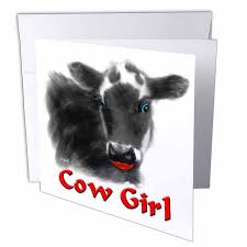 cow greeting cards 3drose to be different cows greeting cards 6 x 6