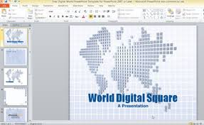free digital world powerpoint template for powerpoint 2007 or later