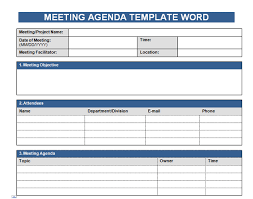 get free meeting agenda template in word microsoft excel templates