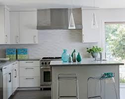 attractive contemporary kitchen backsplash designs including white