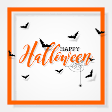halloween frame with white background vector vector frames