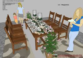 Free Woodworking Plans For Outdoor Table by Home Garden Plans Ds100 Dining Table Set Plans Woodworking