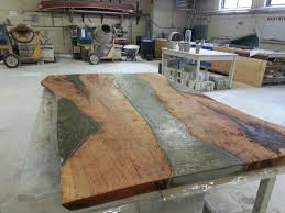 How To Make A Wood Table Top Best 25 Concrete Dining Table Ideas On Pinterest Concrete Table