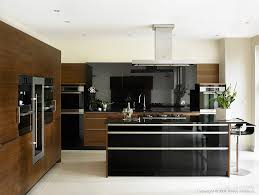 black gloss and walnut kitchen in wendy u0027s home near comber by