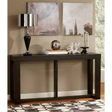 Sofa Table With Drawers Signature Design By Ashley Gavelston Rectangular Black Sofa Table