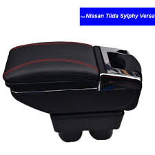 nissan accessories south africa abs plastic and pu leather car center console armrest storage box