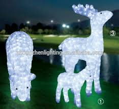 new 3d led lighted deer outdoor decorations buy