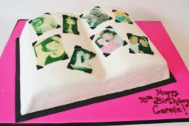 70th birthday cakes 70th birthday cakes nj scrapbook custom cakes sweet grace
