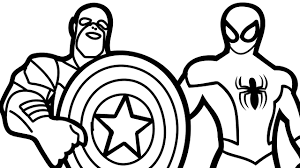 spiderman captain america coloring book coloring pages kids