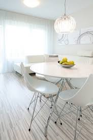 apartment classic white round dining table and stylish eiffel