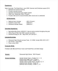 high school resume template word free high school resume template sle 6 documents in word for no