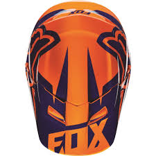kids motocross gear canada fox racing 2016 youth v1 race helmet orange blue available at