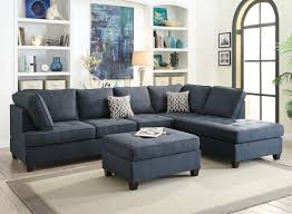 Fabric Sectional Sofas With Chaise Poundex F6988 Fabric Sectional Sofa With Reversible Chaise