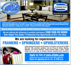 Furniture Application Set Framer Job In Verona Ms 38879 North East Mississippi Daily
