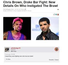Funny Chris Brown Memes - brown and drake bar fight