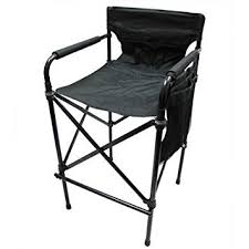 Tall Directors Chair With Side Table World Outdoor Products Lightweight Professional Tall Directors