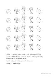 Preposition Practice Worksheets Prepositions Of Place Four Activities With One Worksheet