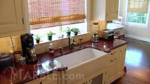 Red Kitchen Countertop - red ravel granite kitchen countertops by marble com youtube