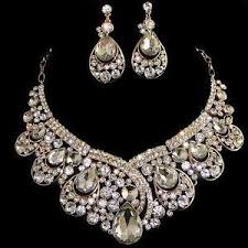 necklace rhinestone images Rhinestone necklace ebay JPG