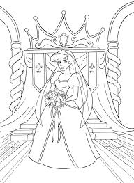walt disney coloring pages princess ariel kleurplaat