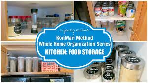 konmari organization kitchen food storage before u0026 after youtube