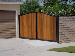 Garage Gate Design Metal And Wood Fence Ideas Ideas With Ideas Combine Block Wall