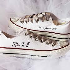 wedding shoes converse custom wedding converse by nappy notonthehighstreet