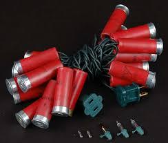shotgun shell christmas lights red colored shotgun shell string lights novelty lights inc