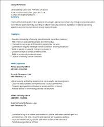 Armed Security Guard Resume Sample Security Officer Resume 8 Examples In Word Pdf